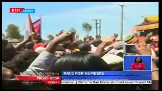 President Uhuru on tour in Central Kenya urging Kenyans to vote him in a second time