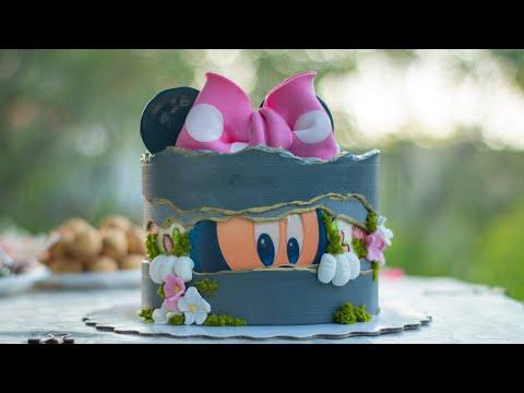 Как несложно оформить торт по теме мультфильма Микки Маус