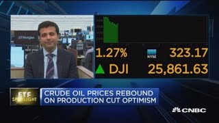Crude oil prices rebound on production cut optimism
