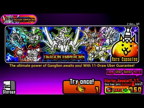 The Battle Cats - NEW Dragon Emperors 750 Catfood Discount
