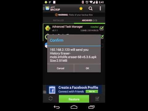 Video of App Backup & Restore