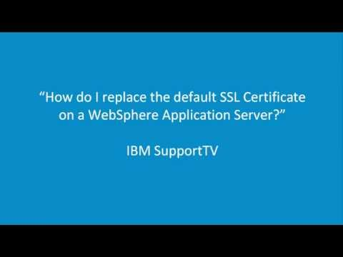 How do I replace the default SSL Certificate on a WebSphere ...