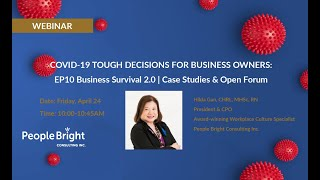 COVID-19 TDBO – EP10 Business Survival 2.0 | Case Studies & Open Forum Webinar Recording