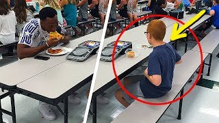 NOBODY WANTED TO SIT WITH THIS BOY... BUT ONE TIME A STRANGER SAT DOWN WITH HIM