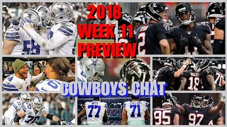 2018 WEEK 11 FULL GAME PREVIEW SIM: Dallas Cowboys @ Atlanta Falcons (MADDEN 19) + COWBOYS CHAT!!!