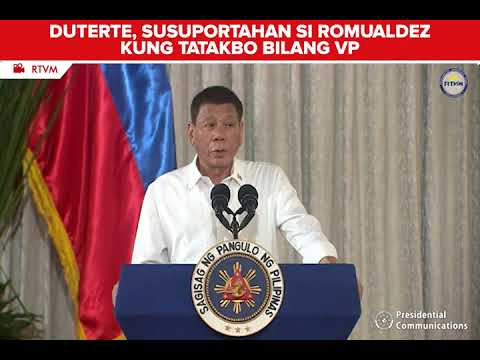 [News5]  Duterte, susuportahan si Romualdez kung tatakbo bilang VP