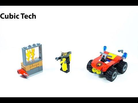 Vidéo LEGO City 60105 : Le 4x4 des pompiers