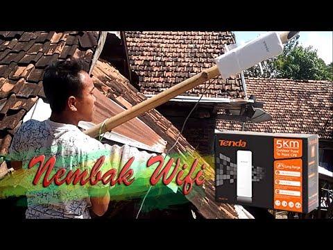Nembak Wifi dengan Acces Point Tenda03 5 KM Outdoor