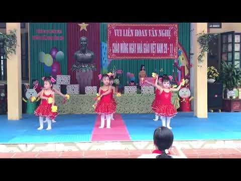 Văn nghệ chào mừng ngày nhà giáo Việt nam 20/11/2020: Bài Em đến trường mầm non - lopw 3 - 4 tuổi B