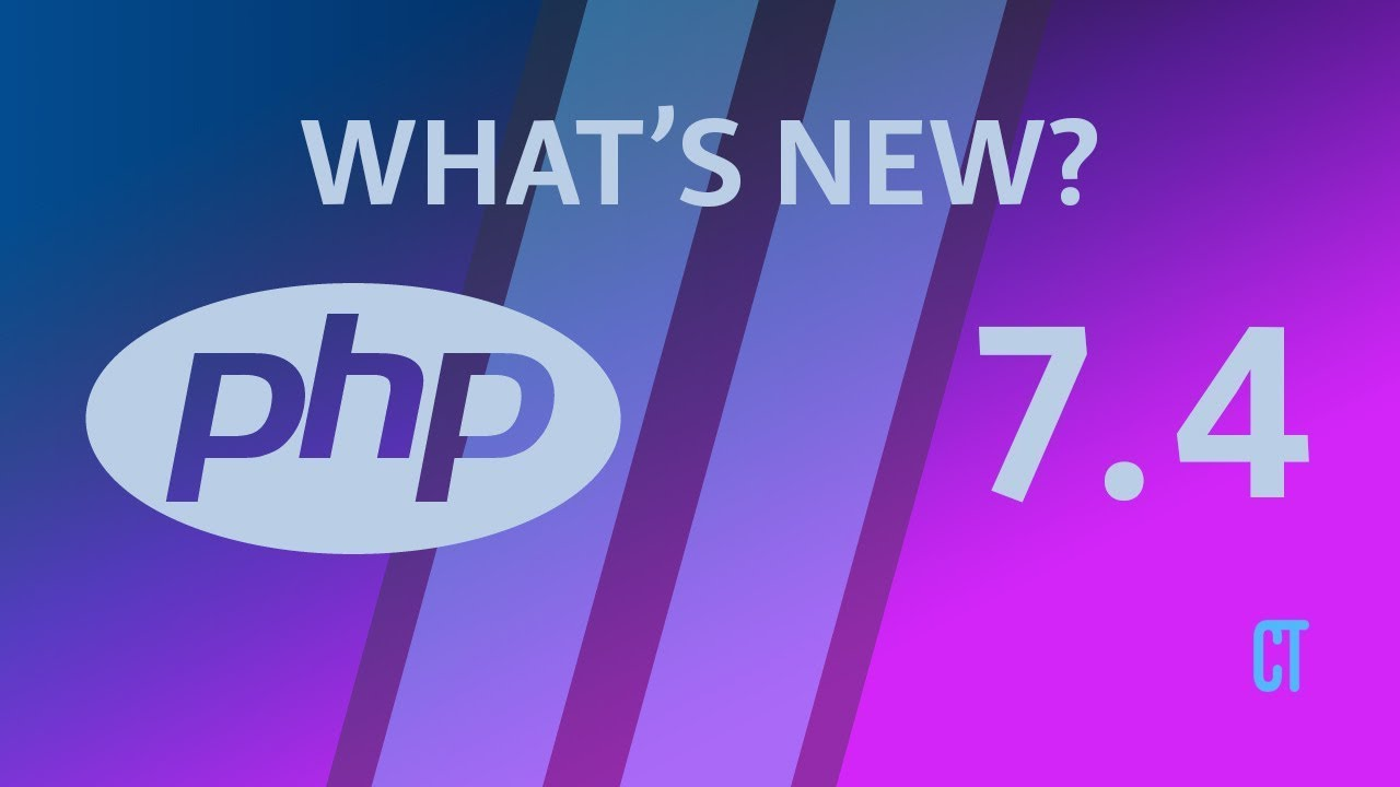 Cover image for the lesson by the title of What's new in PHP 7.4