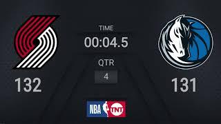 Trail Blazers @ Mavericks | NBA on TNT Live Scoreboard #WholeNewGame
