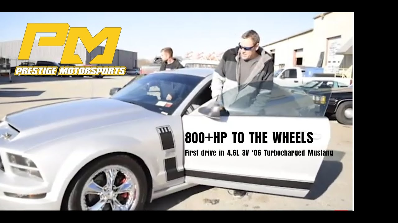 Scott drives his turbocharged 4.6L 3V Mustang for the first time - 800+HP to the Wheels!