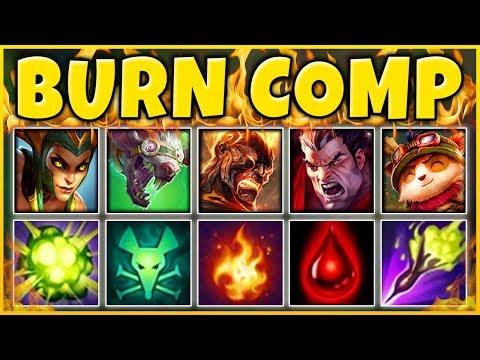 INFINITE BURN TEAM COMP 2019 (BURN ONLY KILLS) THE CRAZIEST TEAM EVER - League of Legends