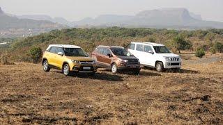 Maruti Suzuki Brezza vs Mahindra TUV300 vs Ford EcoSport - Comparative Test