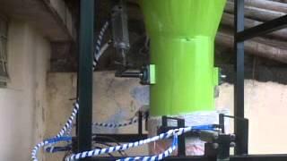 sistema de control de peso para el llenado de sacos de harina de 50 kg