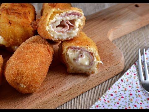 Rollitos de pollo, jamon y queso (Receta fácil)