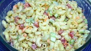Macaroni Salad Recipe - Easy Macaroni Salad Recipe - Homemade Macaroni Salad