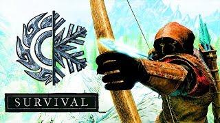 Skyrim Special Edition Выживание Легенда! Лучник + Creation Club #1