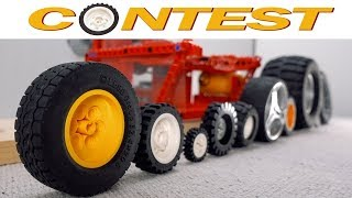 Spinning Contest with 10 Lego Wheels