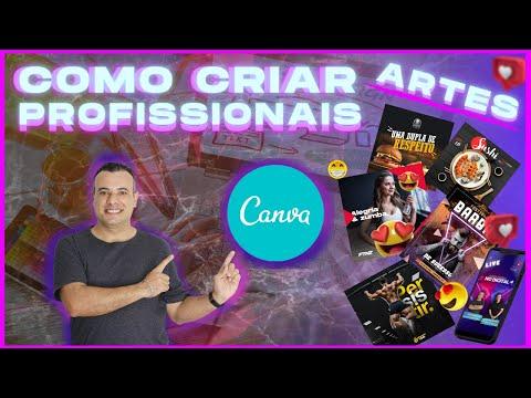 Artes no Canva - aprenda a fazer artes profissionais no canva- ganhe dinheiro com designers