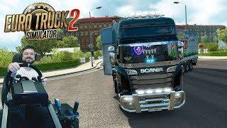 Вот как должна выглядеть Европа! - ProMods Euro Truck Simulator 2 + руль Fanatec CSLElite