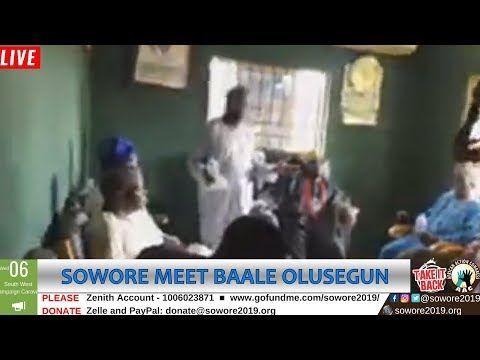 LIVE: Omoyele Sowore meets with Baale Olusegun Omoyele in Ikorodu  #TheAlternative  #TakeItBack