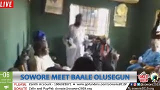 LIVE: Omoyele Sowore meets with Baale Olusegun Omoyele in Ikorodu  #TheAlternative  #TakeItBack