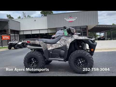 2022 Suzuki KingQuad 750AXi Power Steering SE Camo in Greenville, North Carolina - Video 1