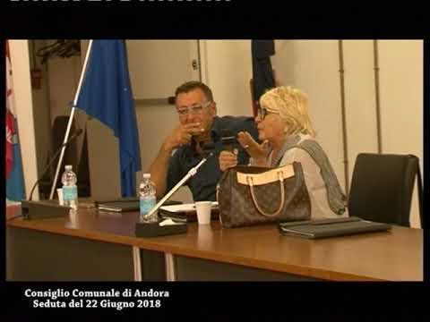 CONSIGLIO COMUNALE DI ANDORA, SEDUTA DEL 22 GIUGNO 2018