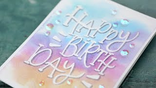Relaxing Watercolor Painting & Lettering - Birthday Card