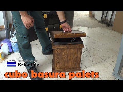 Cómo hacer un cubo de basura con palets