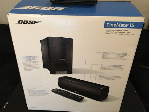 Bose Cinemate 15 Home Theater System vs Samsung Unboxing & Demo
