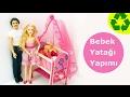 Barbie bebeği için bir Yatak Yapımı -  Nasıl Yapılır?  Kendin Yap