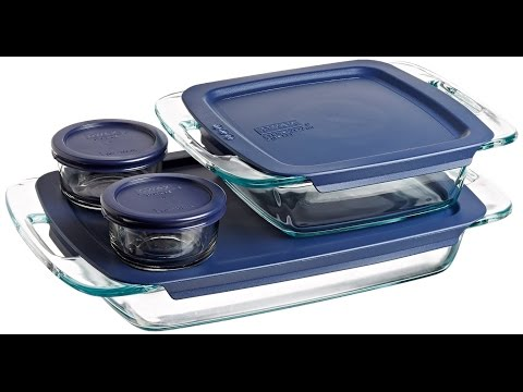 Review:  Pyrex Easy Grab 8-Piece Glass Bakeware and Food Storage Set