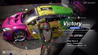 JOT381 GRAN TURISMO SPORT 240618 LAGO MAGGIORE MEGANE TROPHY 2nd to 1st FASTEST LAP 8 LAPS 548th WIN
