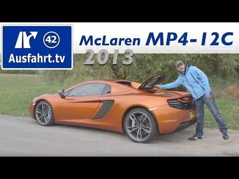 2013 McLaren MP4-12C Spider - Fahrbericht der Probefahrt / Test / Erfahrungen
