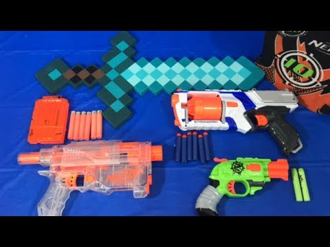 Nerf Guns Box of Toys for Children Toy Guns Minecraft Sword