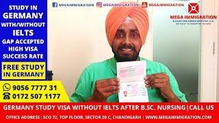 Germany Visa from India without IELTS after B.Sc. Nursing | Study Nursing in Germany for Free