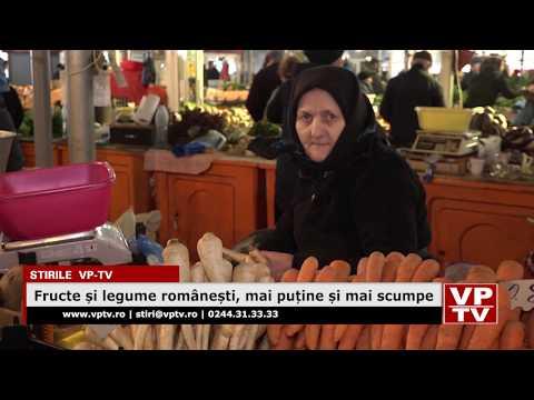 Fructe și legume românești, mai puține și mai scumpe