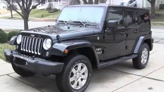 2016 Jeep Wrangler Unlimited Sahara in Depth tour, and startup