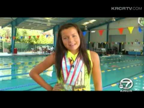 12-year-old Connor Doran is a budding swimmer with the medals to prove it