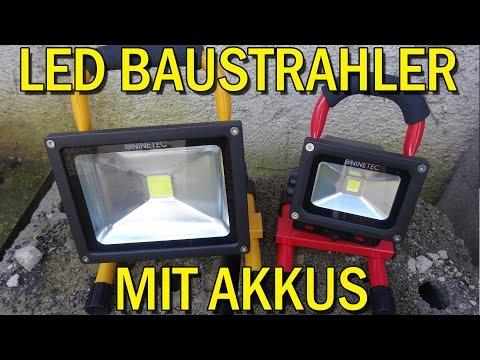 """KABELLOSE 10/20 WATT LED BAUSTRAHLER MIT AKKUS"" -Vorstellung"