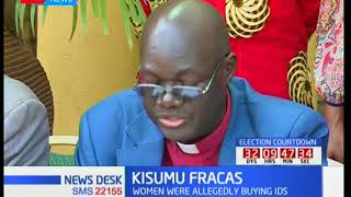 Kisumu religious leaders condemn the unrest in Kisumu yesterday 13th Sept 2017