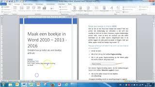 Word 2010 Maak een boekje