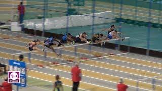 Aubière 2018 : Finale 60 m haies Espoirs M (Wilfried Happio en 7''82)