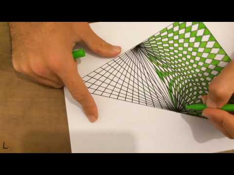 How TO Draw 3D-4D Geometric Triangle Art | Spirograph Tutorial