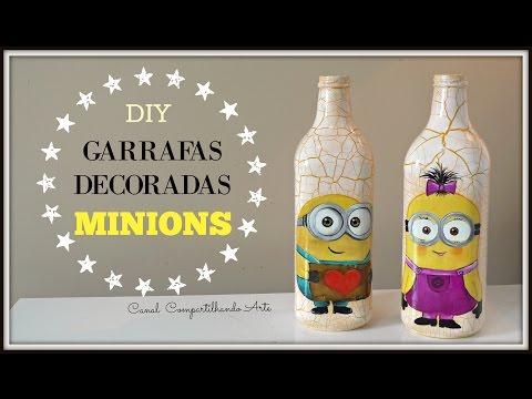 Garrafas decoradas Minions