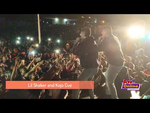 Lil Shaker and Kojo Cue performs at the Joy FM Open House Party at UPSA