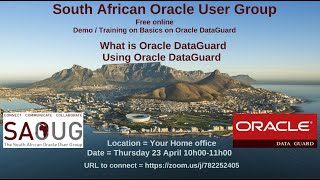 Ahmed Jassat South African Oracle User Group DataGuard Training