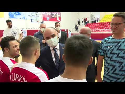 Valimiz Şehmus  Günaydın, Down Sendromlular Futsal Milli Takımımızın Antrenmanını İzledi